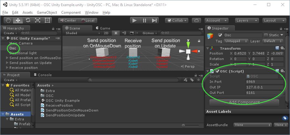 UnityOSC - Open Sound Control (OSC) for Unity 3D